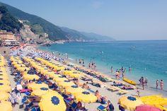 Cinque Terre Yellow Umbrellas
