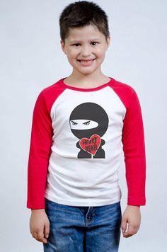 Valentine's Day Shirt - Ninja Heart Breaker T-Shirt - Valentine Theme - Ninja Themed Party - Personalized Valentines' Day Shirt
