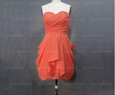 short bridesmaid dress coral bridesmaid dress by sposadress, $99.99- this color is pretty too