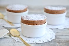 Souffles are notoriously scary — so I'm here to take that fear away and simplify the Chocolate Souffle recipe so you have all the confidence. English Muffin Recipes, Homemade English Muffins, Easy Desserts, Dessert Recipes, French Desserts, Dessert Bars, Dessert Ideas, Cake Recipes, Brownies