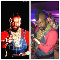 So Hallowwen is my favorite holiday of the year, Lat year my brother and I di Cheech and Chong and submitted it This year I did my favorite Sitcom TV show Mr T Halloween Costume, Jem Costume, 1980s Looks, Army Party, Cheech And Chong, Homemade Costumes, Favorite Holiday, Costume Ideas, Badass
