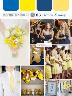 Lemon and Navy Wedding Inspiration