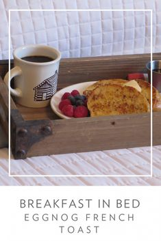 National French Toast Day does exist! Try our Eggnog French Toast Recipe - Breakfast in Bed - Eggnog French Toast, Today Is National, Breakfast In Bed, Recipe Of The Day, Holiday Recipes, Breakfast Recipes, Tasty, Cottage, Meals