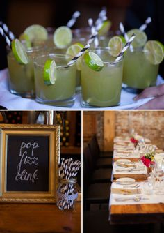 Wedding Reception Details. Pop Fizz Clink. Dallas Curow Photography.  Planning by the event room.  www.theeventroom.ca