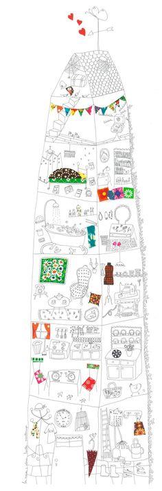 La Maison à colorier ©Papillon*Papillonnage