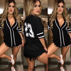 Apaixonada por essa blusinha 😍😍😍😍 Cute Casual Outfits, Sexy Outfits, Fashion Outfits, Womens Fashion, Fall Winter Outfits, Summer Outfits, Style Tumblr, Jersey Outfit, Dance Outfits