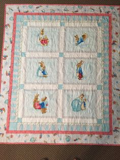 Beatrix potter peter rabbit cot crib playmat by Quarryburnquilting