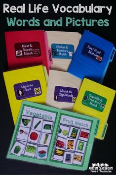 I love being able to teach students vocabulary that they use every day. This set includes photos and clip art matching activities. Perfect for independent work and learning new vocabulary. Life Skills Classroom, Life Skills Activities, Teaching Life Skills, Autism Activities, Autism Classroom, Special Education Classroom, Therapy Activities, Classroom Activities, Teaching Ideas