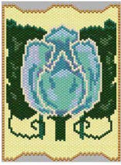 Art Noveau Tile | Bead-Patterns.com