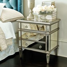 Addison Mirrored Side Table