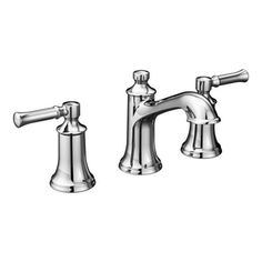 Moen Dartmoor™ 1.2 gpm 3-Hole Widespread Bathroom Faucet with Double Lever Handle in Polished Chrome MT6805