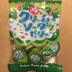 Bite-size Jelly, Melon Cream Soda flavor, 10 cups in 1 bag, Japanese Candy #Kinjo