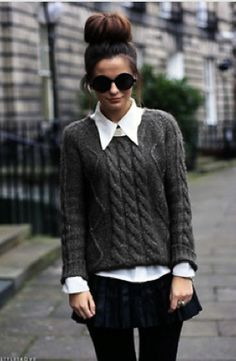 Knit and sunglasses