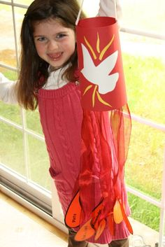 I've been wanting to make a Windsock for Pentecost with my children for a few years now, ever since seeing the idea over at By Sun and Cand...