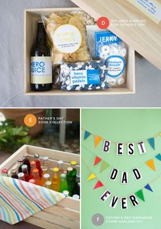 Father's Day DIY Ideas | Oh Happy Day! Diy Gifts For Dad, Unique Gifts For Him, Diy Father's Day Gifts, Cute Gifts, Fathers Day Presents, Fathers Day Crafts, Happy Fathers Day, Father's Day Diy, Daddy Day