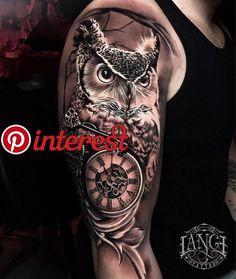 Tattoo g tattoo, chest tattoo, body art tattoos, key tatto Owl Tattoo Design, Tattoo Sleeve Designs, Tattoo Designs Men, Sleeve Tattoos, Owl Tattoo Sleeves, Cool Shoulder Tattoos, Mens Shoulder Tattoo, Shoulder Tattoos For Women, Model Tattoo