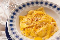 Ravioli al miele con salsa allo zafferano