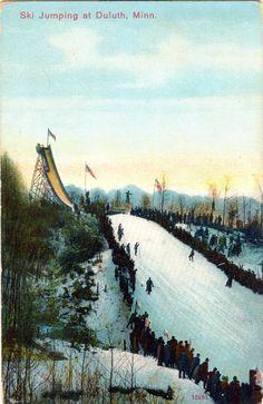 Duluth Minnesota Ski Jump Postcard CA 1909