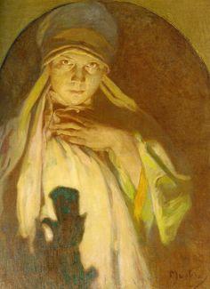 The Enchantress (the artist's daughter Jaroslav Mucha), Alphonse Mucha c.1925
