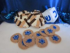 Felt Hanukkah Dreidel Set on Etsy, $10.00