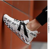 Luxury Style Blade Running Shoes For Men Breathable Mesh Socks Sneakers - Men's style, accessories, mens fashion trends 2020 Sneakers Fashion, Fashion Shoes, Mens Fashion, Running Sneakers, Running Shoes For Men, Sneakers Workout, Men's Shoes, Shoes Sneakers, Asos Shoes