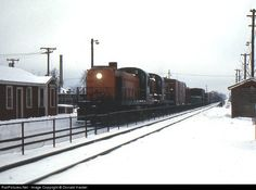 RailPictures.Net Photo: New York, New Haven & Hartford Railroad Alco RS-3 at Mansfield, Massachusetts, December, 1972 by Donald Haskel.