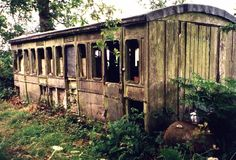 Very old train car or carriage.