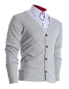 FLATSEVEN Mens Slim Fit Stylish Button up Cardigan (C100) Grey, XL FLATSEVEN http://www.amazon.com/dp/B009P4KVEM/ref=cm_sw_r_pi_dp_oXhwub1Z119G4