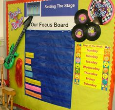Clutter-Free Classroom: Rockstar Themed Classroom - various pictures and wording ideas
