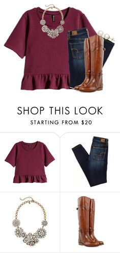 """""""love this christmas vibe✨"""" by econgdon ❤ liked on Polyvore featuring H&M, American Eagle Outfitters, J.Crew, Frye and Honora"""