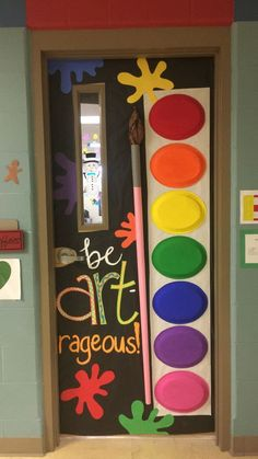 Art class decoration ideas - Preschool - Aluno On Art Classroom Decor, Classroom Design, Carnival Classroom, Classroom Door Decorations, Preschool Decorations, Preschool Ideas, Preschool Art Display, Art Party Decorations, Classroom Door Displays