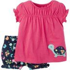 Child of Mine by Carter's Newborn Baby Girl Shirt and Shorts 2 Piece Set