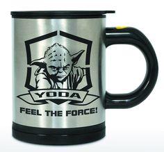 #cadeau du jour : #Mug Mélangeur Feel The Force #Yoda http://ow.ly/P77K304nh1H 24.90€ #StarWars #café