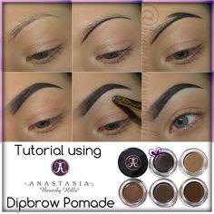 Brow Tutorial Using Anastasia Beverly Hills Dipbrow Pomade!