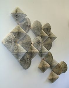 """Wendy Kawabata - """"Withdrawn from Circulation"""".  The Hawaii-based artist's piece was constructed out of books pulled from circulation from Honolulu libraries, which Kawabata bought for a dollar a piece."""