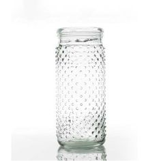 Glass Hobnail Jar in Clear.  Fill with wildflowers or faux fall blooms for your rustic vintage wedding.