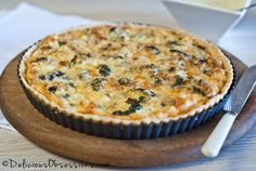 Broccoli Cheese Quiche Recipe (Gluten and Grain Free) // deliciousobessions.com