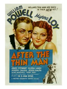 myrna loy and william powell   After the Thin Man, William Powell, Myrna Loy, Asta, 1936 Lámina en ...
