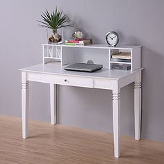 cute white desk