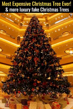 The Most Expensive Christmas Tree EVER and more luxury fake Christmas trees you have GOT to see! These are THE most expensive fake Christmas trees in the world! Realistic Artificial Christmas Trees, Luxury Christmas Tree, Christmas Trees For Kids, Cheap Christmas Gifts, Alternative Christmas Tree, Christmas Tree Design, Diy Christmas Tree, Christmas Tree Toppers