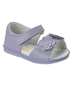 Loving this Lavender Flower Leather Sandal on #zulily! #zulilyfinds
