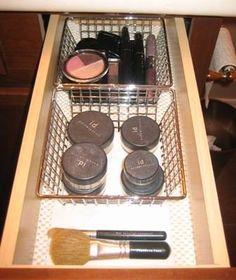 Bathroom Vanity & Medicine Cabinet Organization