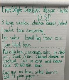 0sp Mexican Chicken meal