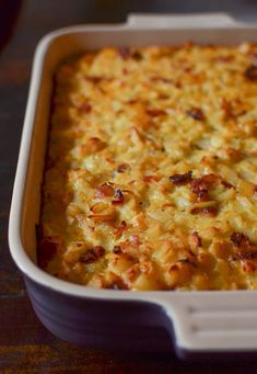 Bacon, Potato, and Egg Breakfast Casserole Recipe. This one dish make ahead overnight breakfast recipe is great if you're serving overnight guests or brunches for a crowd. Family friendly comfort food that's perfect for holidays like Christmas or Easter. You'll need bacon, onion, bell pepper, garlic, sun dried tomatoes, milk, cheddar cheese, and frozen diced potatoes or hash browns.