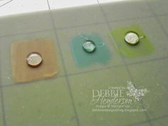 Homemade Blendabilities Glue Dots. Tutorial included. Debbie Henderson, Debbie's Designs.
