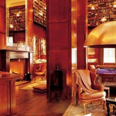 Relax in the stunning Library Bar at the design  **** Hudson, A Morgans Original hotel in New York
