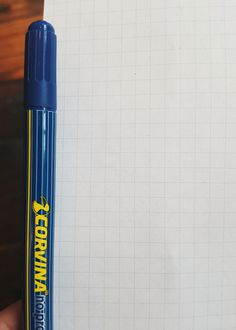 """Innovative Italian-made pen based on the """"SCR"""" system: write, erase and re-write. Write with the 0.5mm blue fine tip, erase using the wide corrector point and re-write using the fine blue tip again.Water based ink, no bleed-through."""