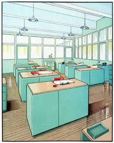 1930s architectural illustrations