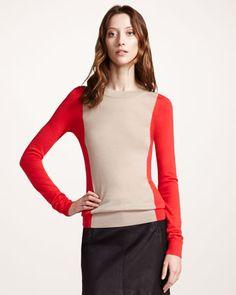 Colorblock Merino Sweater by Theory at Bergdorf Goodman.