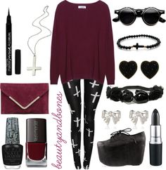 """Nu Goth"" by beautyyandbones ❤ liked on Polyvore"